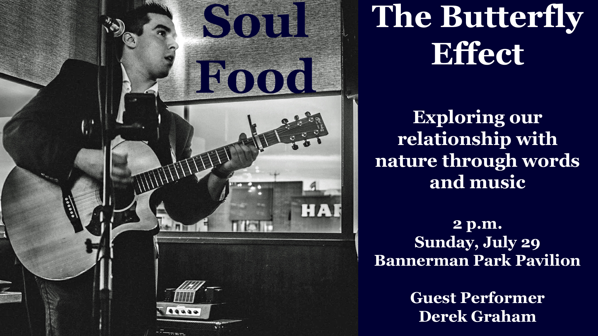 Soul Food - The Butterfly Effect - Sunday, July 29, at the Bannerman Park Pavilion in St. John's.